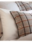 Lexington Gray/white/rust Check Checked Flannel Pillowcase 50x70 thumbnail