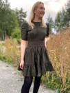 Bytimo 019 - Forest Green Structured Cotton Mini Dress thumbnail