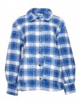 Noella Blue/white Checks Viksa Jacket, Wool