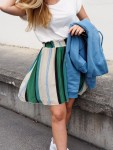 Holzweiler Green Stripe Sotre Bee Humble Skirt