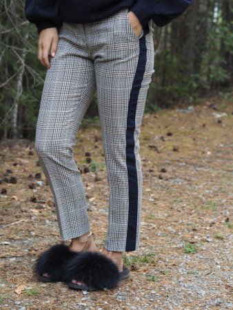 Rich & Royal Macchiato Dame Check Pant With Stripe