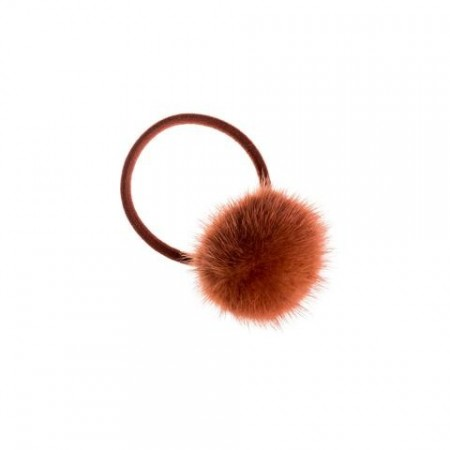 Dark Copper Mink Hair Pom