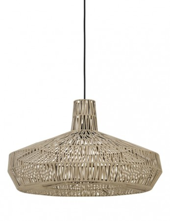 Light And Living Natural Masey Hanging Lamp ø59*35 Cm Natural Leather
