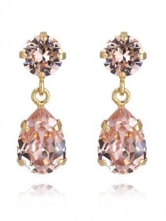 Caroline Svedbom Mini Drop Earring Gold Vintage Rose 319