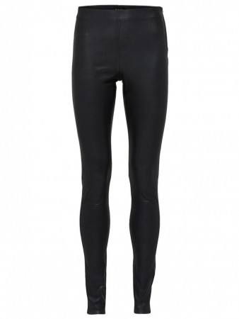 Selected Femme Black Sfsylvia Stretch Leather Pant