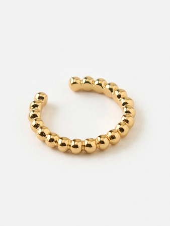 Orelia Gold Orelia Beaded Metal Single Ear Cuff