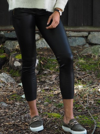 Depeche Black Dame Leather Pants