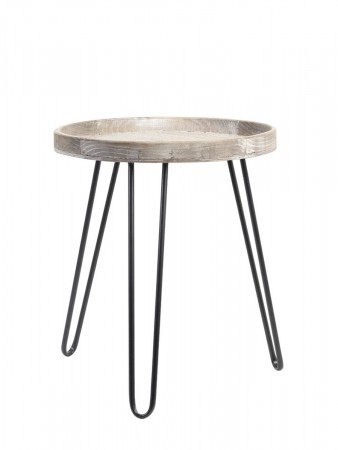 Light And Living Side Table ø50x60 Cm Kenzie