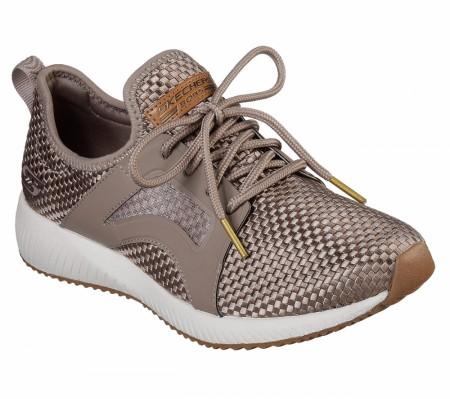 Skechers Taupe Bobs Squad