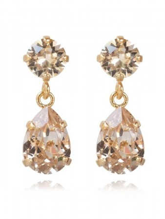 Caroline Svedbom Mini Drop Earring Gold Silk