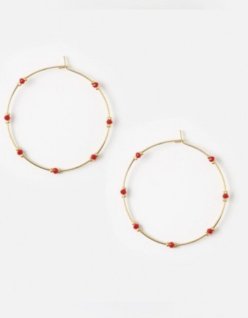 Orelia - Red Bead Earrings