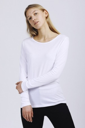 The Product 10 White Wmn Long Sleeve