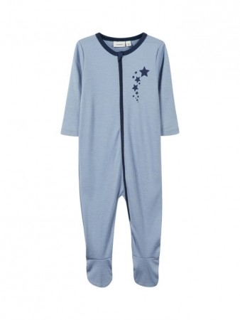 Name It Dusty Blue Nbmwillit Wool Ls Nightsuit Wf