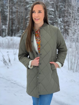 Basic Apparel 355 Covert Green Laura Jacket