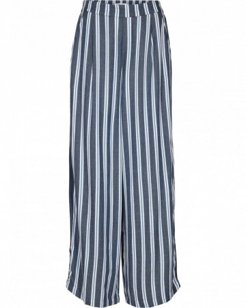 Msch Midnight Navy Stripe Alana Ancle Pants Aop
