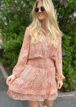 Second Female Apricot Brandy Floral Mw Short Skirt