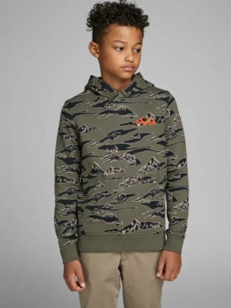 Jack & Jones Dusty Olive Jorhike Sweat Hood Junior