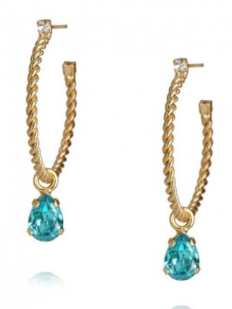 Caroline Svedbom Nani Earring Gold Light Turquoise 263