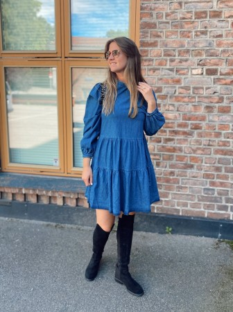 Noella Dark Blue Tif Dress, Cotton Denim - FORHÅNDSBESTILLING