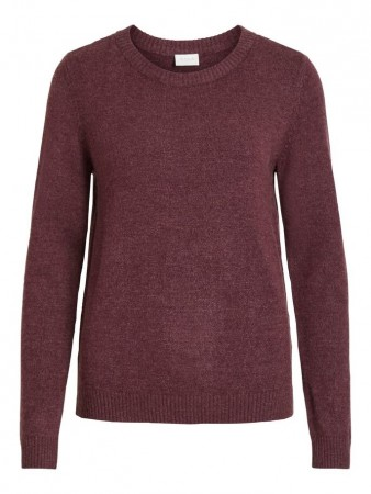 Vila Winetasting Viril L/s O-neck Knit Top-noos