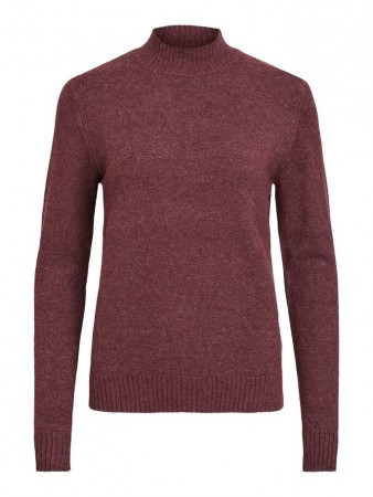 Vila Winetasting Viril L/s Turtleneck Knit Top-fav