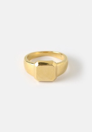 Orelia Gold Bevelled Band Ring