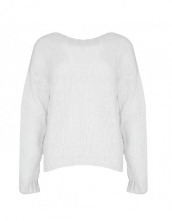 Noella White Kala Knit Sweater