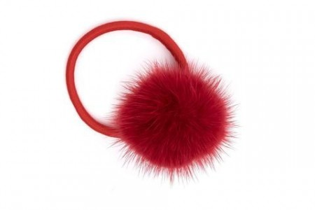 Dark Red Mink Hair Pom