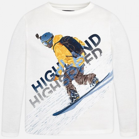 Mayoral Cream L/s Snowboard T-shirt