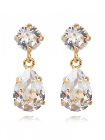 Caroline Svedbom Mini Drop Earring Gold Crystal