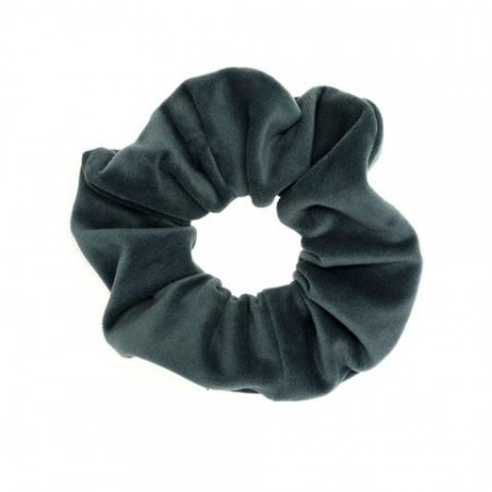 Dark Teal Velvet Scrunchies