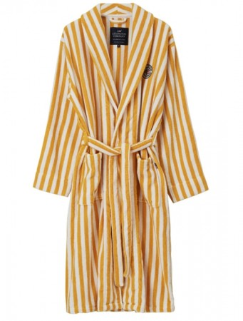 Lexington Yellow/white Striped Terry Robe