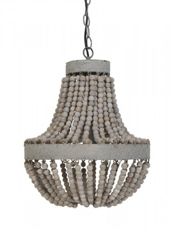 Light And Living Hanging Lamp Beads ø:35,5*45 Cm Luna Old White