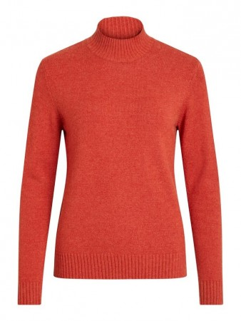 Vila Ketchup Viril L/s Turtleneck Knit Top-noos