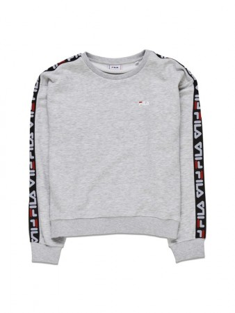 Fila Light Grey Melange Bros Women Tivka Crew Sweat