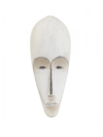 Light And Living Wall Ornament 60*11*25 Cm Mask White