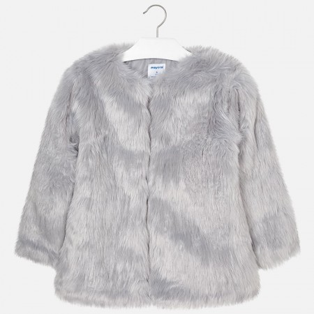 Mayoral Grey Fur Coat