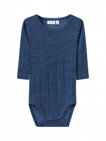 Name It Ensign Blue Nbmwang Wool Needle Ls Body Noos