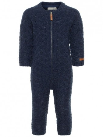 Name It Dress Blues Nmmwrilla Wool Ls Knit Suit Noos
