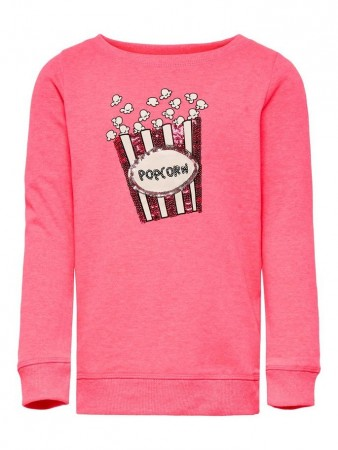 Only Neon Pink Konsound L/s O-neck Ok Swt