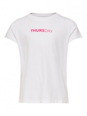 Only Bright White Konweekday S/s Top Box Jrs