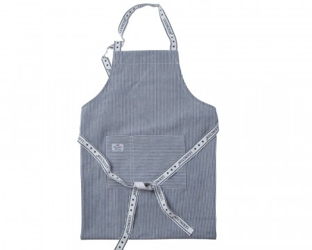 Lexington Navy High 80x105 Oxford Striped Apron