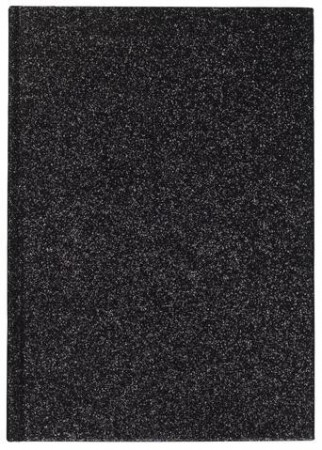 Dark Black Notebook A5 Glitter