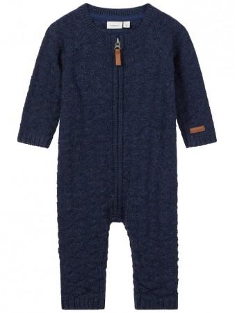 Name It Dress Blues Nbmwrilla Wool Ls Knit Suit Noos
