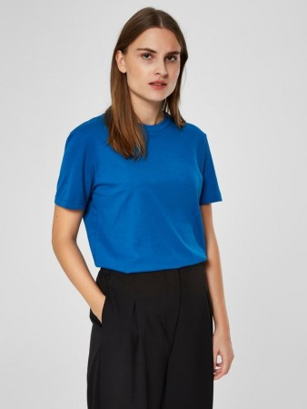 Selected Femme Dazzling Blue Slfmy Perfect Ss Tee