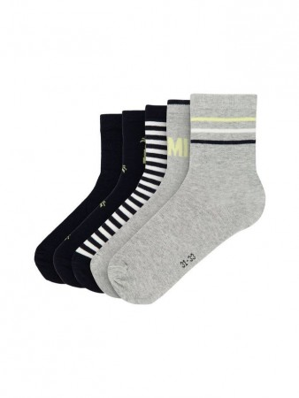 Name It Grey Melange Nkmvaks 5p Sock D