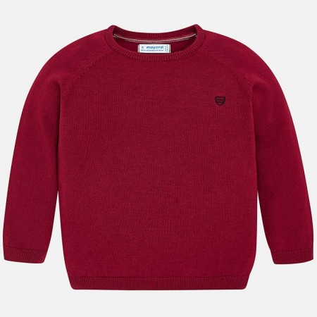 Mayoral Wine Basic Cotton Sweater W/round