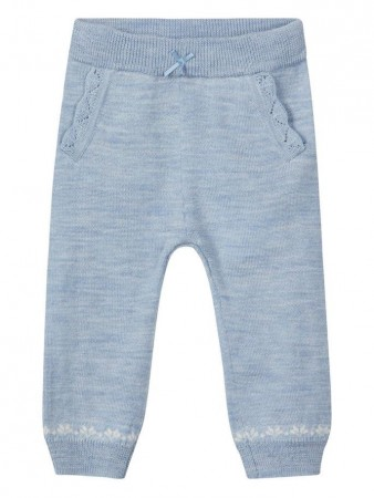 Name It Dusty Blue Nbfwhoopi Wool Knit Pant
