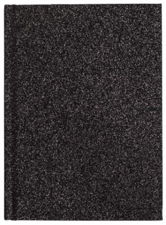 Dark Black Notebook A6 Glitter