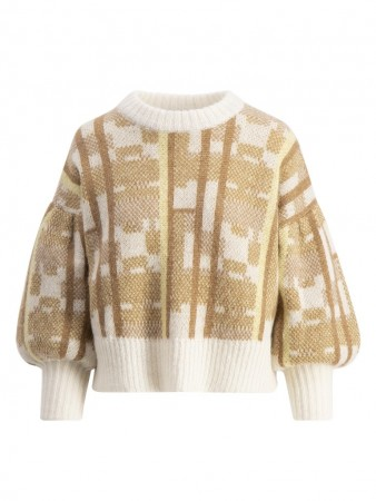 Holzweiler Light Yellow Check Caution Check Sweater